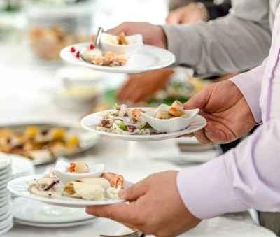 Serving tasteful food, catering